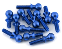 175RC Associated B6.2/T6.2/SC6.2/DR10 Titanium Ball Stud Kit (Blue) (12) (Team RC10 T6.2)