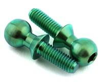 175RC 5.5x8mm Titanium Ball Studs (Green) (2)
