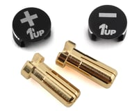 1UP Racing LowPro Bullet Plug Grips w/5mm Bullets (Black/Black)