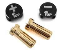 1UP Racing LowPro Bullet Plug Grips w/5mm Bullets (Black/Black)