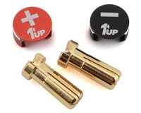1UP Racing LowPro Bullet Plug Grips w/5mm Bullets (Black/Red)