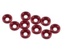 1UP Racing 3mm Countersunk Washers (10) (Red)