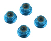 1UP Racing 4mm Serrated Aluminum Locknuts (Blue) (4) (Losi 22 3.0)