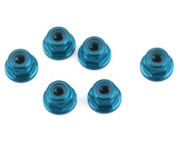 1UP Racing 3mm Aluminum Flanged Locknuts (Blue) (6) (Losi 22 3.0)