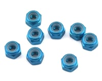 1UP Racing 3mm Aluminum Locknuts (Blue) (8)