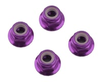 1UP Racing 4mm Serrated Aluminum Locknuts (Purple) (4) (Losi 22 3.0)
