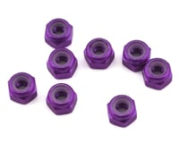 1UP Racing 3mm Aluminum Locknuts (Purple) (8) (Losi 22T 3.0)