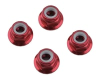 1UP Racing 4mm Serrated Aluminum Locknuts (Red) (4) (Losi 22 3.0)