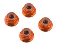 1UP Racing 4mm Serrated Aluminum Locknuts (Orange) (4)