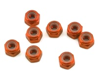 1UP Racing 3mm Aluminum Locknuts (Orange) (8) (Losi 22 3.0)