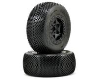 AKA Gridiron SC Pre-Mounted Tires (SC6/Slash/Blitz) (2) (Black) (Kyosho Ultima SC)