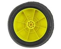 "Image 2 for AKA ""EVO"" Gridiron 2.4"" Rear Buggy Pre-Mounted Tires (2) (Yellow) (Ultra Soft)"