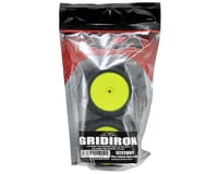 "Image 3 for AKA ""EVO"" Gridiron 2.4"" Rear Buggy Pre-Mounted Tires (2) (Yellow) (Ultra Soft)"