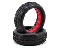 "AKA ""EVO"" Pin Stripe Front 2WD Buggy Tires (2) (Clay) 