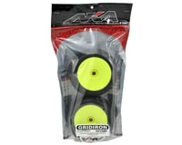 Image 2 for AKA EVO Gridiron 1/8 Truggy Pre-Mounted Tires (2) (Yellow) (Super Soft)