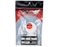 """Image 2 for AKA 12mm Hex """"EVO"""" 4WD Front Wheels (2) (ZX6) (White)"""