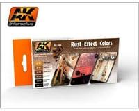AK Interactive Rust Effects Acrylic Paint Set (6 Colors) 17Ml Bot