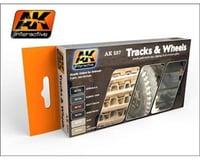 AK Interactive Track & Wheels Acrylic Paint Set (6 Colors) 17Ml B