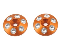 Arrowmax Alloy Rear Wing Shims (2) (Orange) (Schumacher Cougar KF2)