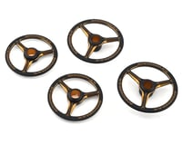 AM Arrowmax Black Golden 1/8 On Road Aluminum Set-Up Wheel (4)