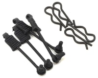 Arrma Outcast 6S BLX 1/8 Scale Body Clip Retainers in Black ARAAR390178