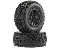 Arrma Sidewinder 2 SC Tire/Wheel Glued Black (2)