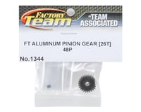 Image 2 for Team Associated Factory Team Aluminum 48P Pinion Gear (3.17mm Bore) (26T)