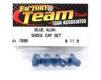 Image 2 for Team Associated Factory Team Aluminum Shock End Cap (Blue) (4)
