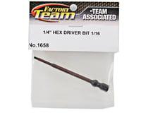 """Team Associated Factory Team Hex Driver Bit (1/16"""")"""
