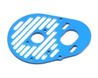 Team Associated Factory Team Milled Aluminum Motor Plate (Blue)