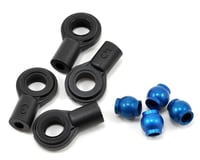 Team Associated Factory Shock Ball Ends with Aluminum Eyelets (Blue) (X X-6 Squared)