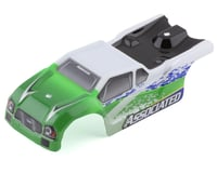 Team Associated TR28 Pre-Painted Body (White/Green)