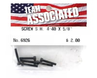 "Image 2 for Team Associated 4-40 x 5/8"" Cap Head Screw (6)"