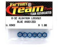 Team Associated 8/32 Aluminum Locknut (Blue Anodized) (6)