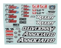 Team Associated RC8 B3.2 Decal Sheet
