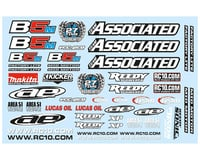 Team Associated RC10B5M Factory Lite Decal Sheet | relatedproducts