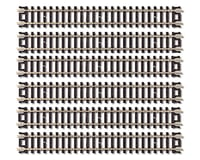 "Atlas Railroad N-Scale Code 80 5"" Straight Track (6) (Nickel Silver) 