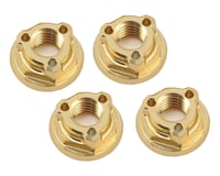 Avid RC Triad 4mm Light Weight Serrated Wheel Nut Set (4) (Gold) (Kyosho Ultima RT6)