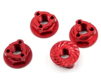 Avid RC Triad 4mm Light Weight Serrated Wheel Nut Set (4) (Red) (Kyosho Ultima RT6)