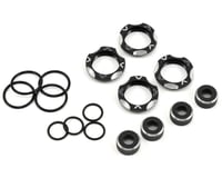 Avid RC B5/B6/B7 Shock Cap & Collar Kit (Black) (Team Associated RC10 SC6.1)
