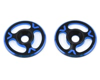 Avid RC Triad Wing Mount Buttons (2) (Black/Blue)