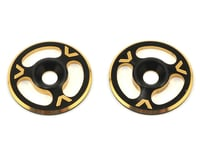 Avid RC Triad Wing Mount Buttons (2) (Black/Gold) (XRAY XT8)