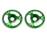 Avid RC Triad Wing Mount Buttons (2) (Green) (XRAY XT8)