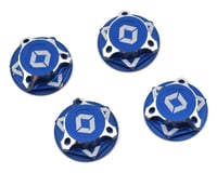 Avid RC Triad 17mm Fine Thread Capped Wheel Nut Set (Blue) (4) (M12x1.0) (Kyosho Inferno GT/GT2)