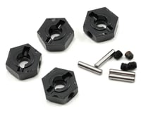 Axial EXO Narrow 12mm Aluminum Hub Set w/Hardware (Black) (4)