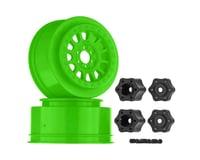 Axial 1/10 Method 105 2.2/3.0 Wheels, 12mm Hex, Green (2)