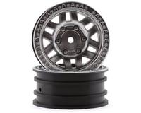 "Axial 1/10 KMC Machete 1.9"" Wheels w/12mm Hex (Satin Silver) (2)"