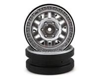 Axial 1.9 KMC Machete Beadlock Wheels (Satin Chrome) (2)