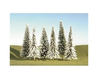 "Bachmann Scenescapes Pine Trees w/ Snow (9) (3-4"")"