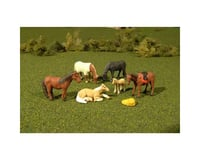 Bachmann SceneScapes Horses (6) (HO Scale)